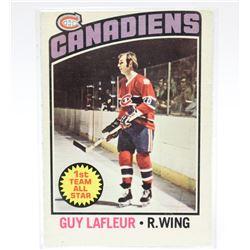 1976 O-Pee-Chee Guy Lafleur Montreal Canadiens NHL Hockey Card #163