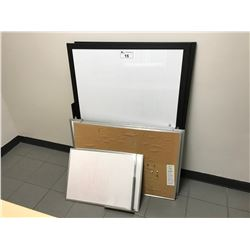 7 ASSORTED SIZED WHITE BOARDS