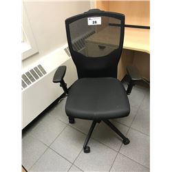 BLACK GLOBAL MESH BACK OFFICE CHAIR