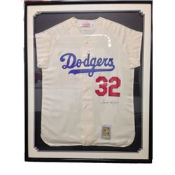 Dodger Sandy Koufax Signed Jersey Framed
