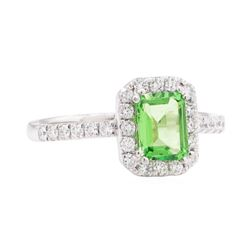 1.46 ctw Tsavorite and Diamond Ring - Platinum
