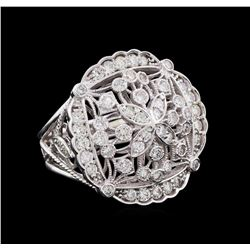 2.04 ctw Diamond Ring - 14KT White Gold