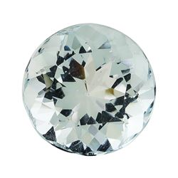 3.01 ct.Natural Round Cut Aquamarine
