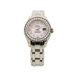 Ladies Rolex Masterpiece 18KT White Gold Datejust Watch