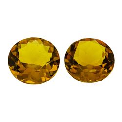 10.75 ctw.Natural Round Cut Citrine Quartz Parcel of Two