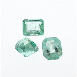 3.16 cts. Natural Emerald Cut Emerald Parcel