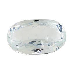 6.41 ct.Natural Oval Cut Aquamarine