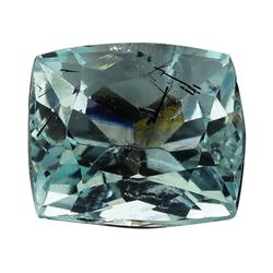 5.85 ct.Natural Cushion Cut Aquamarine