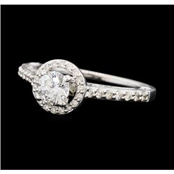 0.79 ctw Diamond Ring - 14KT White Gold