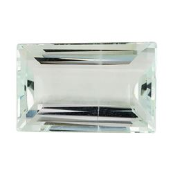 4.44 ct.Natural Rectangle Step Cut Aquamarine