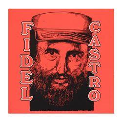 Castro by Steve Kaufman (1960-2010)