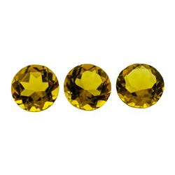 5.57 ctw.Natural Round Cut Citrine Quartz Parcel of Three