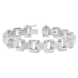 14K White Gold 1.15CTW Diamond Bracelet, (SI3/F-G)