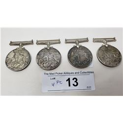 Group Of Four Sterling Ww2 Medals