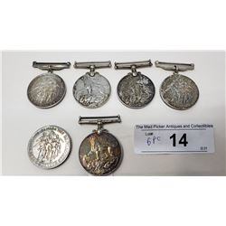 Group Of Six Sterling Ww2 Medals