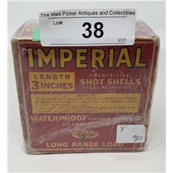 Rare Early 12 Gauge Imperial Full Box