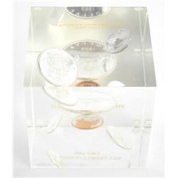 1962 Silver Coin Set Paperweight