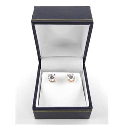 Gold Plated 925 Silver Stud Earring 1ct Swarovski Elements