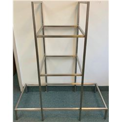"Lot (2) 48"" H- Multi Tier Glass display Shelf Units"
