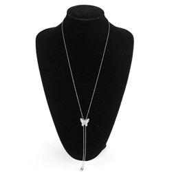 Butterfly Slider Necklace with Swarovski Elements