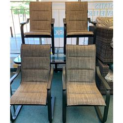 """5pc Patio Set - Glass Table 38x60"""" 'NEW'"""