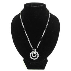 MM Crystal - Designer Double Circle of Life Necklace with Swarovski Elements.
