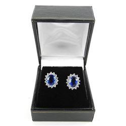 925 Silver Lady Diana Style Oval Custom Earring