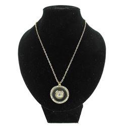 MM Crystal Custom Necklace, Round Pendant with Swarovski Elements