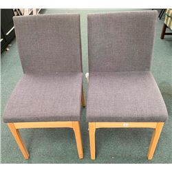 Pair - Grey Upholstery Side Chairs