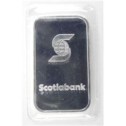 .9999 Fine Silver 1oz Bar 'Scotia Bank'