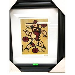 "Christian Morrisseau (1969-) Serigraphic 'Bear Dance' Signed 46/60. 18x22"" Framed"