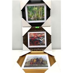 "Group of (3) Framed Studio Panels Group of Seven Artists 15x15"""