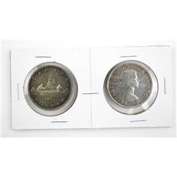 Lot (2) Canada 1953 Silver Dollars ST and N.S.S.