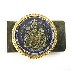 Estate 1965 Silver with Gold Plate - 50 Cent Money Clip