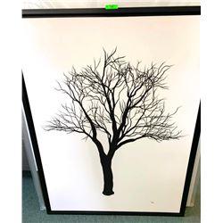 """Birches by Taz 30x36"""" Canvas. Framed (SXR)"""