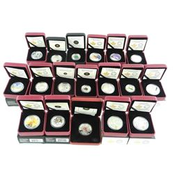 RCM Coin Collection 18 Coins, 16x .9999 Fine Silver $3.00-$25.00 LE/C.O.A. RCM Issue - Price $1467.0