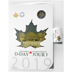 Remember D-DAY 2019 Coin Folio, plus RCM Special Wrap Roll 2.00 Coins. 25 x 2.00 = 50.00