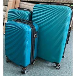 McBrine - 3pc Luggage Set TEAL with Wheels