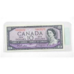 Bank of Canada 1954 Ten Dollar Note UNC B/C