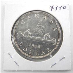 1935 Canada Silver Dollar ms63+