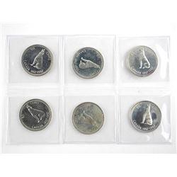 Lot (6) 1867-1967 Silver 50 Cent Specimen - DOG