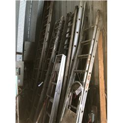 LOT OF ASSORTED ALUMINUM LADDERS