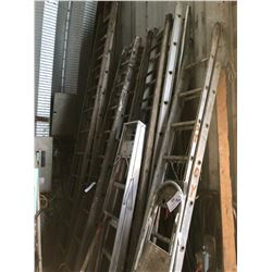 LOT OF ASSORTED WOOD  LADDERS