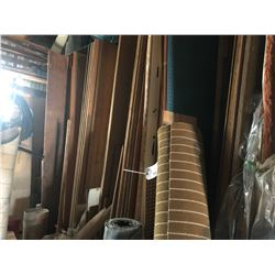 LOT OF ASSORTED PLYWOOD, PEG BOARD AND MORE