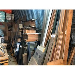 LARGE LOT OF ASSORTED WOOD, TRIM, DOORS AND MORE  NOT INCLUDING