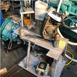 OUTBOARD MOTOR SERVICE STAND WITH PARTS ONLY OUTBOARD MOTOR