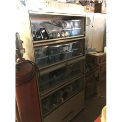 LOT OF ASSORTED BOAT/MARINE PARTS, COMES WITH MOBILE STORAGE CABINET