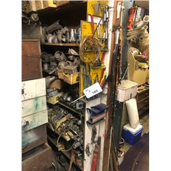 CONTENTS OF RACK INCLUDING PIPE FITTINGS AND OTHER ASSORTED PARTS