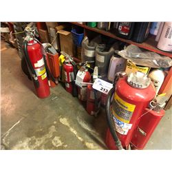 ASSORTED FIRE EXTINGUISHERS (NOT CERTIFIABLE)