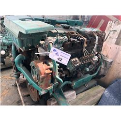VOLVO D71 INBOARD MARINE ENGINE FOR PARTS/REPAIR